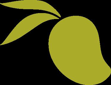 Green Mango Illustration Asset